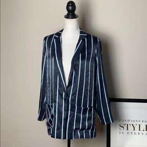 Worthington Striped Pajama-style Blazer